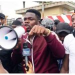 BREAKING: Police Arrest Comedian, Mr Macaroni At Lekki Tollgate, Seize Protesters' Phones