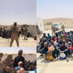 PHOTOS: 16 Suspects Arrested, 85 Abducted African Migrants Rescued As Libyan Army Raids Smuggling Dens