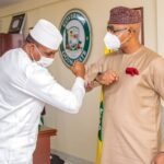 Governor Abiodun receives ex-speaker Bankole in office (photos)