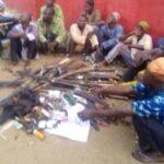 Amotekun Arrests 16 Hausa Gunmen Heading For Oyo Town, Recovers 18 Rifles (Photos)
