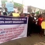 Teachers protest five years unpaid salaries in Rivers