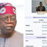 How And Who Edited Tinubu's Age 84 Times On Wikipedia