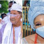 Alaafin of Oyo Steps Out With His Beautiful New Wife, Chioma (Photos)