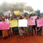 Women Tear Their Clothes, Protest Half-Naked Against Anambra Land Grab For Airport