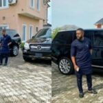 "Photos: ""After Giving to Church, God Blessed Me With Two Expensive Cars"" – Williams Uchemba Says As He Flaunts New Cars And Mansion"