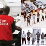 PHOTOS: EFCC arrests 34 suspected Internet fraudsters in Oyo, Lagos