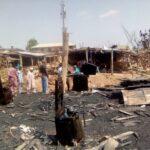 PHOTOS: Plank sellers recount losses as fire guts Bodija market in Ibadan