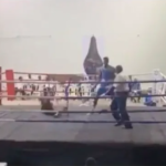 Photos & Video: Nigerian boxer Adegbola knocks out opponent in 15 seconds