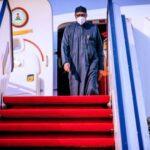 President Buhari Returns From UK