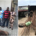 PHOTOS: Officers reject N500,000 bribe, arrest five suspects in Lagos