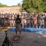 Photos: Boko Haram Terrorists Dare Nigerian Army, Openly Observe Eid-El-Fitr Prayer