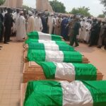 Two Women Slump As Chief Of Army Staff, Attahiru, Other Officers Are Laid To Rest
