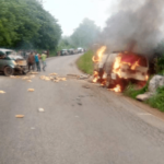 Two Burnt To Death In Ekiti Ghastly Motor Accident (photos)