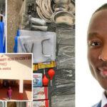 Photos: Nigerian Medic, Elkanah John Donates Hospital Equipments To Rescue Ailing Hospital In Village