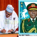 Buhari Asks Senate To Confirm Major General Yahaya As New COAS