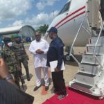 Akpabio Lands In Delta To Plead With Tompolo Over Ultimatum (photos)