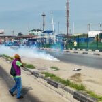 Photos: Police Scatter Lagos June 12 Protesters With Tear Gas