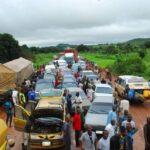 Motorists stranded as protesting trailer, tanker drivers block Minna-Suleja road (photos)