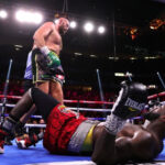 Tyson Fury Defeats Deontay Wilder In Thrilling Fight With Five Knockdowns (photos)